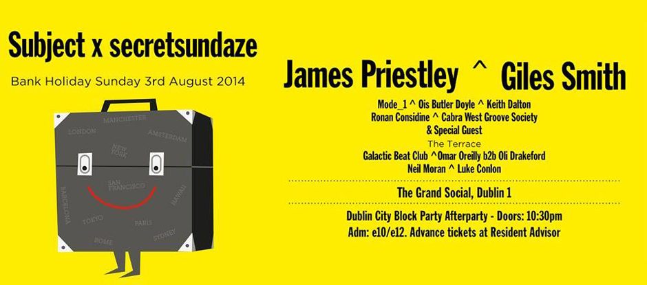 Subject x Secretsundaze (Plus Groovement SOUL) at The Grand Social